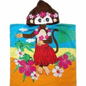 🌼Host Pick🌼Kid's Hula Monkey Poncho Towel